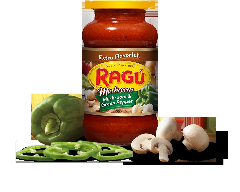 mushroom green pepper sauce ragÚ
