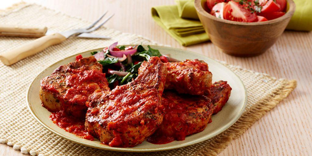 Braised Pork Chops in Tomato Sauce