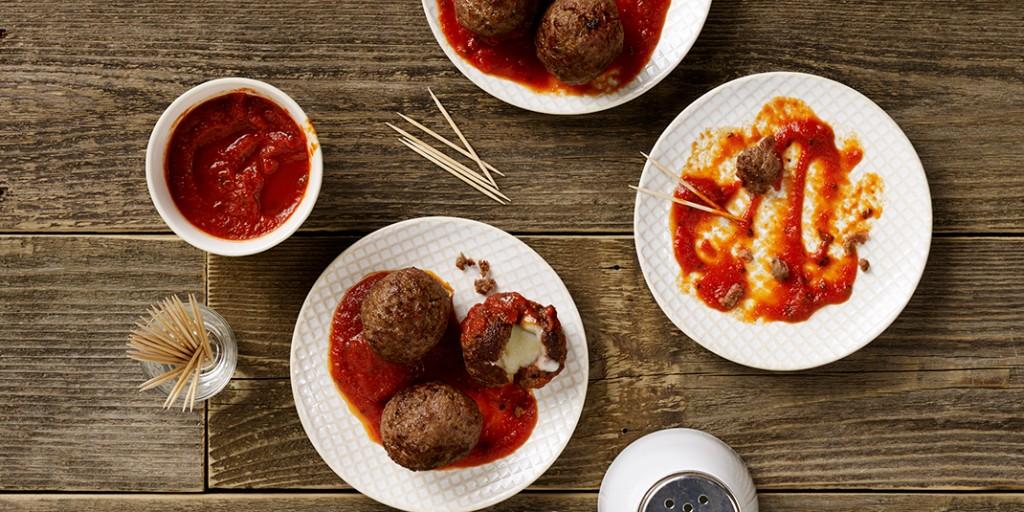 Spicy Mozzarella Meatballs