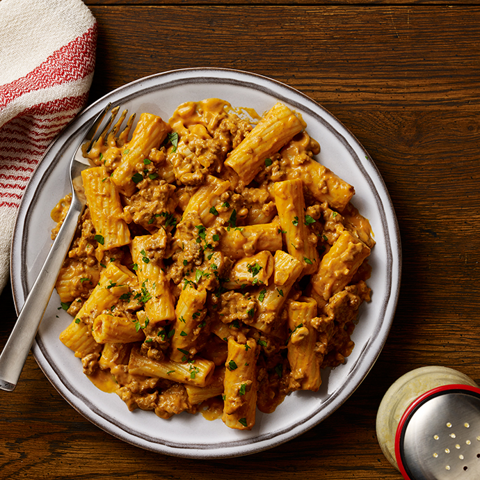 Six Cheese Bolognese with Rigatoni