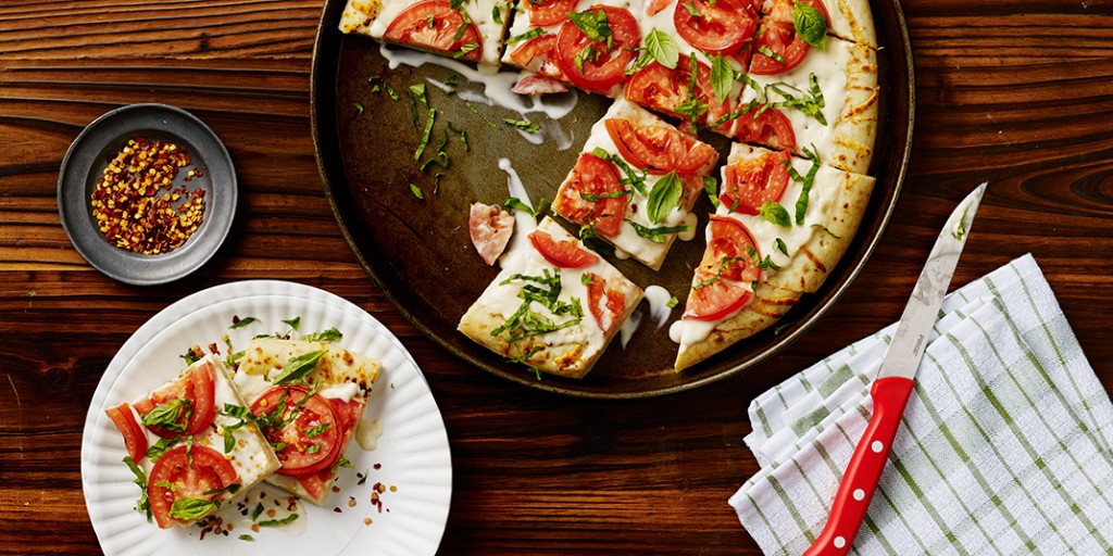 Creamy Basil White Pizza