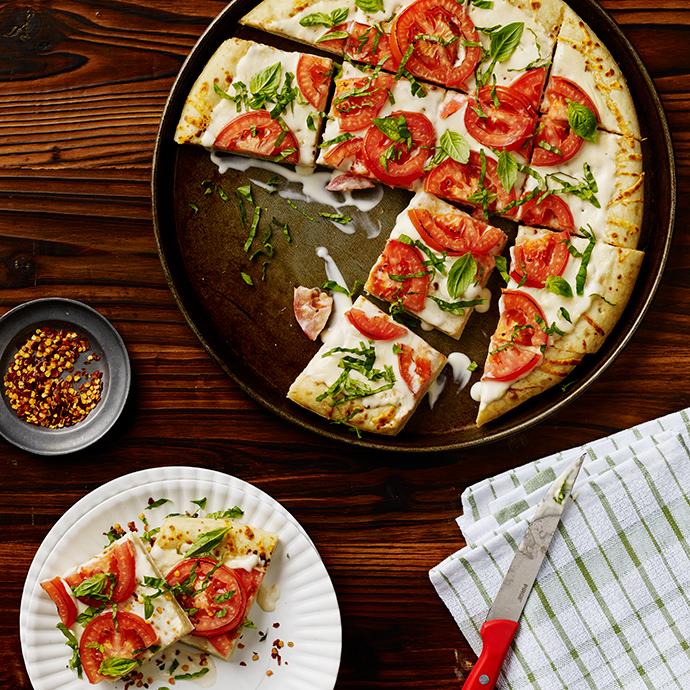 Creamy Basil White Pizza