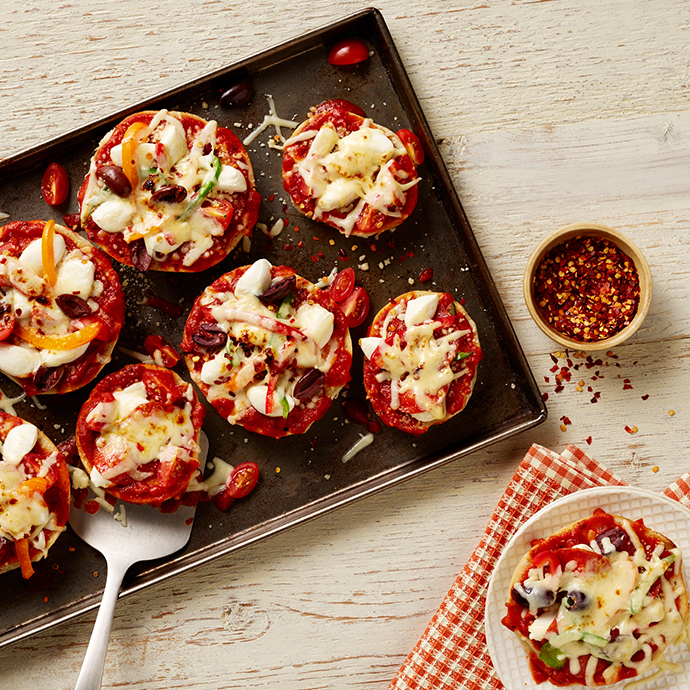 Pizza Bagels Recipe Rag