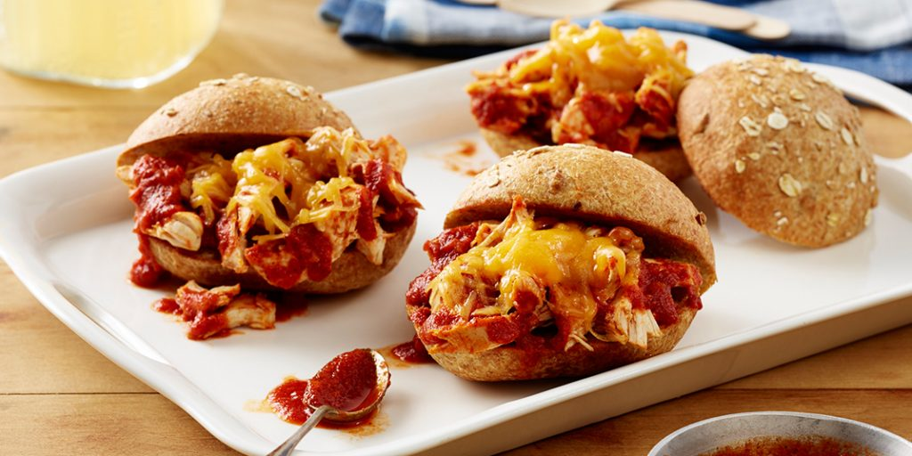 Shredded BBQ Chicken Sandwiches