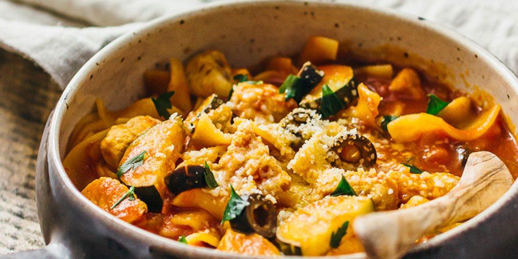 One Pot Chicken Neapolitan Pasta