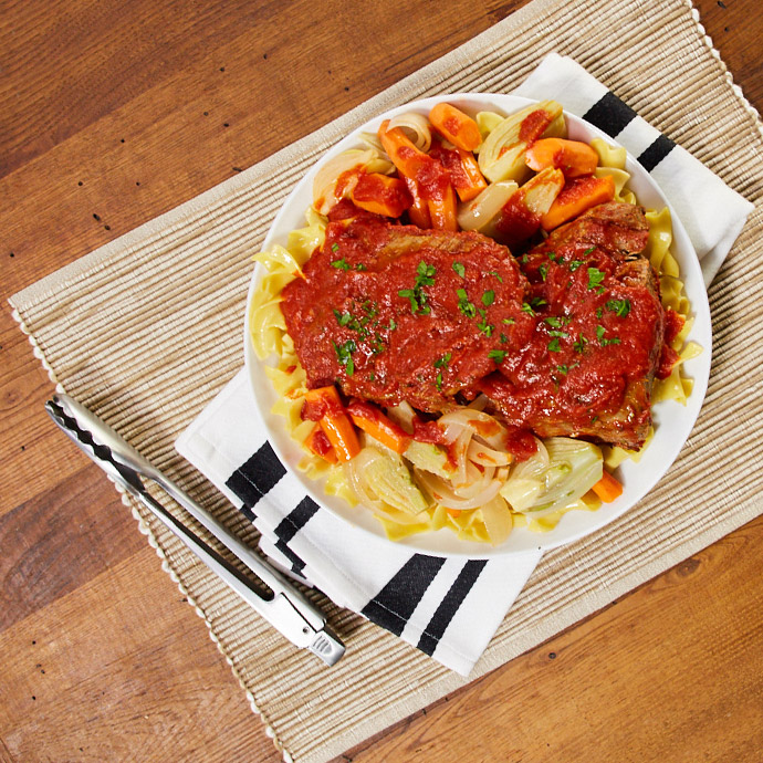 Italian-Style Pot Roast with Carrots and Fennel