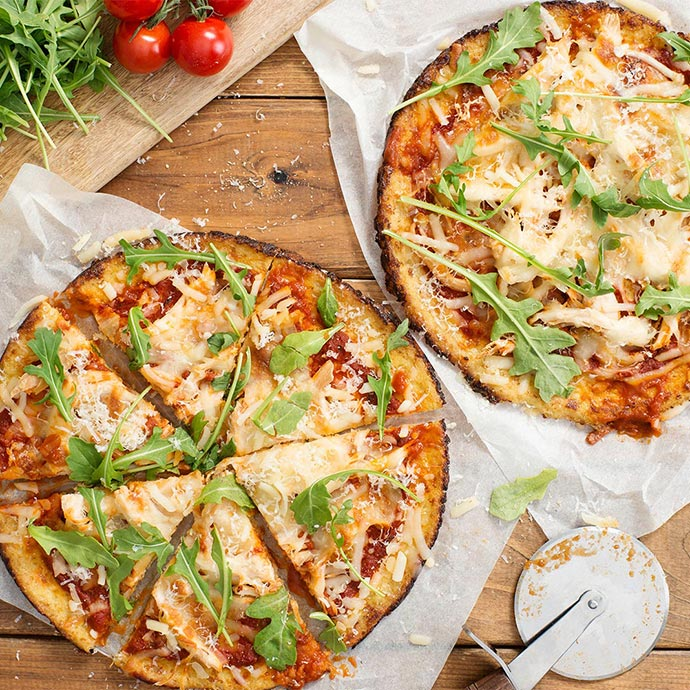 Cauliflower Crust Mix & Match Pizzas