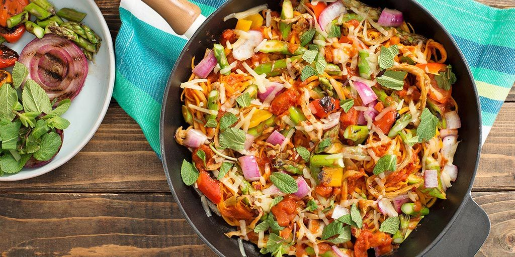 Fire-Roasted Primavera with Veggie Noodles
