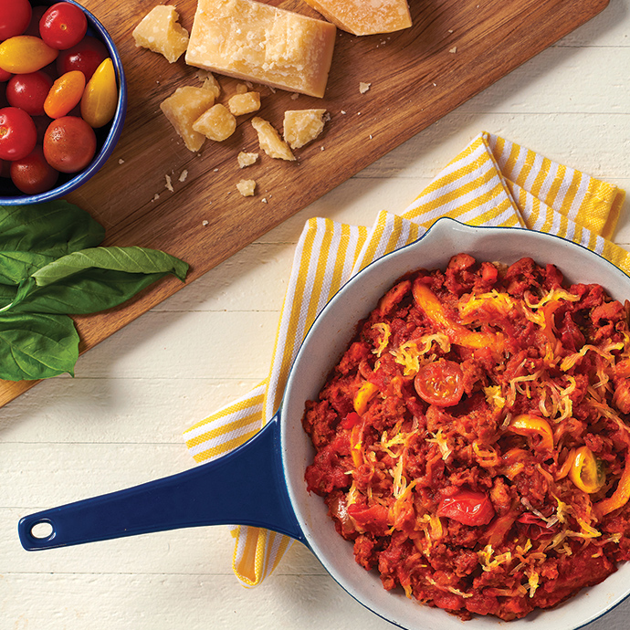 Veggie Spaghetti Squash Skillet