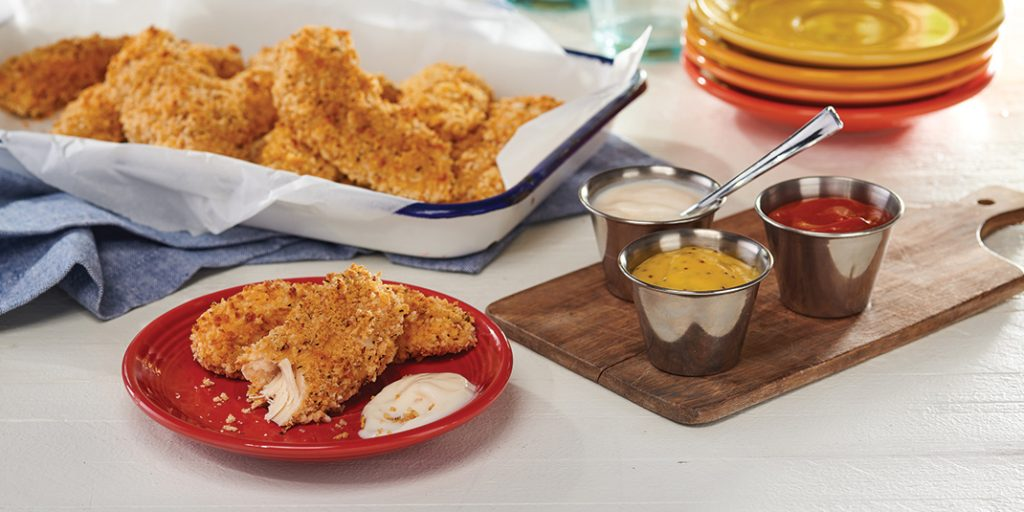 Crunchy Chicken Tenders with Pick & Mix Dipping Sauces