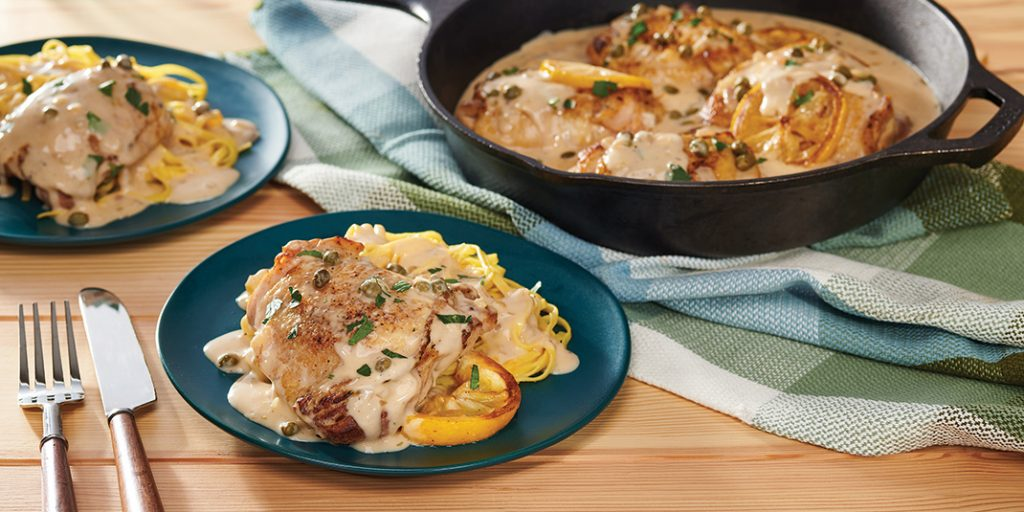 Simple Skillet Lemon Chicken with Fried Capers