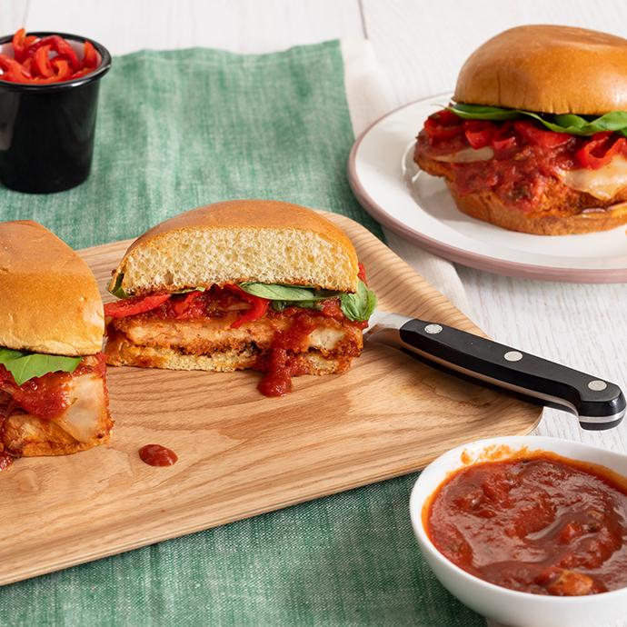 Air-Fried Chicken Parm Sandwiches
