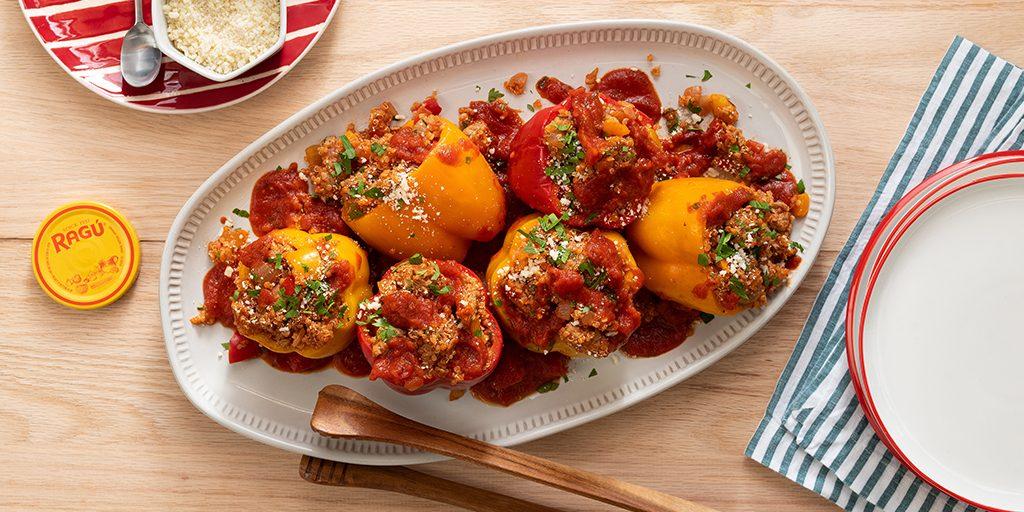 Slow-Cooker Turkey & Quinoa Stuffed Peppers